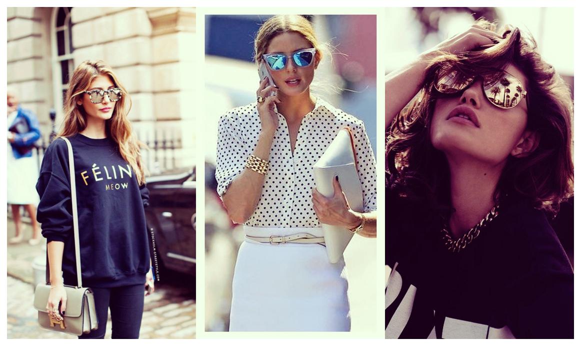 O que tá na moda  Óculos escuros!   Blog Bazar Fashion 22e4c7d230